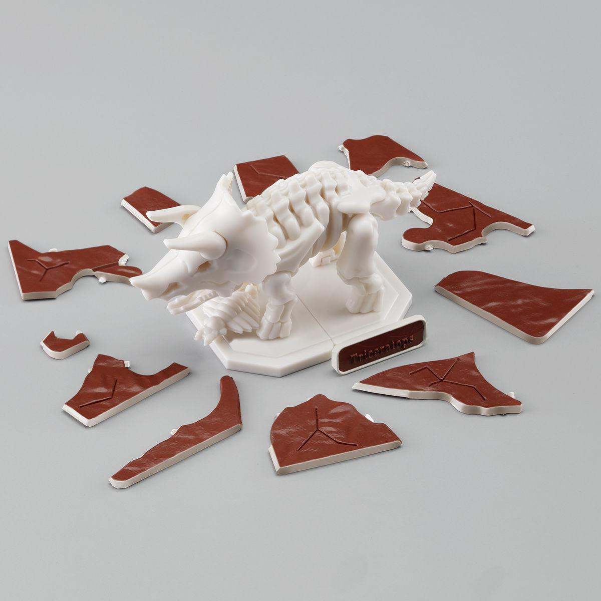 キャラパキ発掘恐竜 プラパキット トリケラトプス