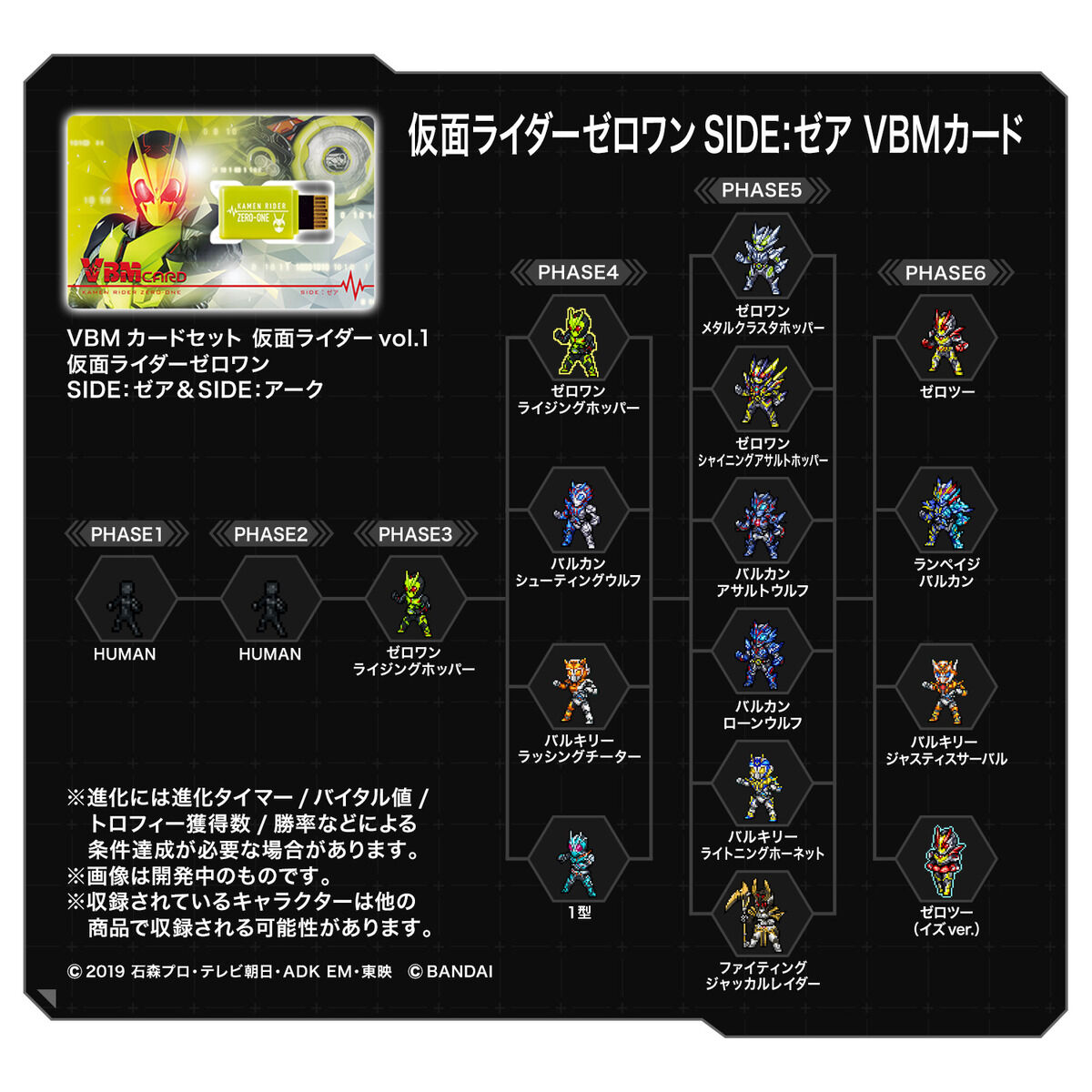 VBMカードセット 仮面ライダーvol.1 仮面ライダーゼロワンSIDE:ゼア&SIDE:アーク